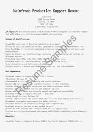 Sample Resume for Experienced Mainframe Developer Elegant Mainframe  Production Support Resume Sample