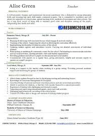 Resume Sample Of Teacher – Amere