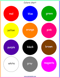 Basic Color Chart For Kids Free Printable For Kids Toddlers Preschoolers Flash Cards