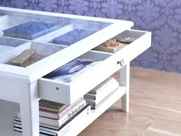 coffee table glass top with storage white