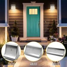 binval solar lights outdoor motion sensor super bright lighting wireless radar activated aluminum alloy waterproof wall