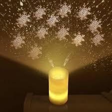 Flameless Candle Plug In Night Light Remote Control Flameless Candle Led Nights Light Projector Luminaria Novelty Rotary Lamp Nightlight Illusion Baby Kids Xmas Gift