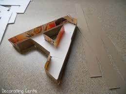 Paper Mache Decorating Decorating Cents Paper Mache Letters