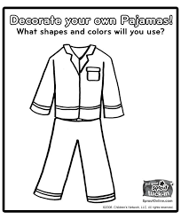 Free Printable Pajama Coloring Pages Pajama Day Coloring Pages
