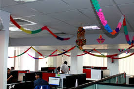 office celebration ideas. All The Seven Teams Were Excited And Started Working On Their Ideas With Colors, Diya Flowers. Office Celebration A