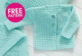 Free Patterns For Crochet Simple How To Crochet Baby Sweater Crochet And Knit