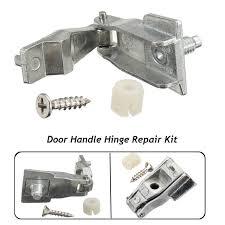 1 set car chrome metal outer door handle hinge repair kit os ns for fiat