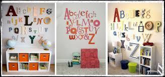 alphabet letters for wall decor australia ideas