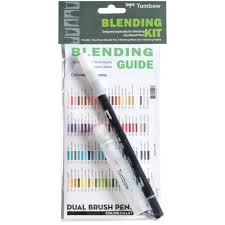 Tombow Dual Brush Pen Blank Color Chart How To Incorporate Blending And Embossing Technique