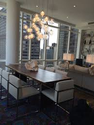 incredible glass chandeliers for dining room kadur custom blown glass dining room chandelier modern