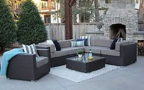 modern outdoor sectional. Image Is Loading 7PC-Patio-Set-Modern-Outdoor-Sectional-Sofa-Furniture- Modern Outdoor Sectional B