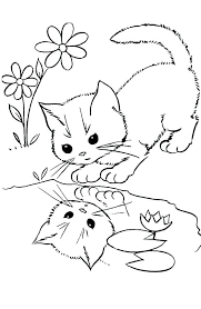 Kitten Coloring Pages Free Related Post Cute Kitten Coloring Pages
