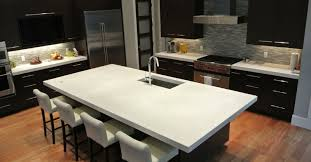 image of white polished concrete countertop