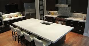 white polished concrete countertop