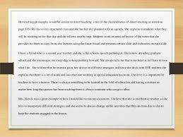 Special Education Class Observation Essay