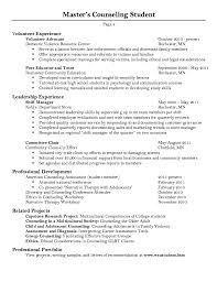 This example Master Counseling Student Resume Sample we will give you a  refence start on building resume.you can optimized this example resume on  creating