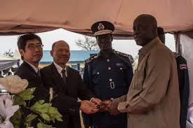 iom and the government of support immigration training ambassador of masahiko kiya and iom chief of mission william barriga hand over keys for