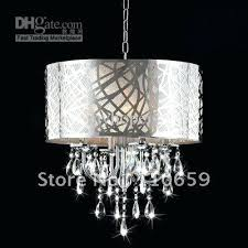 drum light chandelier modern chrome drum crystal chandelier ceiling pendant light fixture ems from 6 light drum light chandelier
