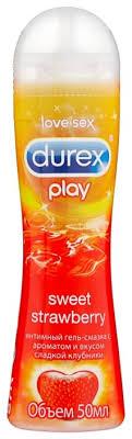 <b>Гель</b>-<b>смазка Durex Play</b> Sweet <b>Strawberry</b> с ароматом сладкой ...