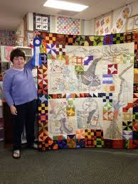Attic Window Quilt Shop: A FIRST PLACE WINNER & Above, Jane B. shows us her wonderful quilt. Jane won first place at the  recent West Michigan Quilt Guild show. Her category was Two Person-Mixed  and ... Adamdwight.com