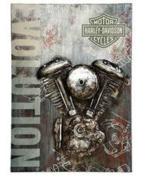 harley davidson reg evolution motorcycle metal wall art 3 d graphic