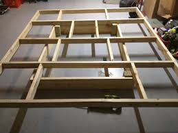 Bracing for top frame. Lower frame is 2x8 and 4x4's in each corner for  stability.