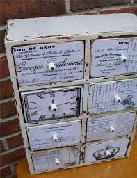 decoupage furniture ideas. decoupage an old cabinet vintage ephemera cabinet refinished by riversongmtp on etsy decoupage furniture ideas