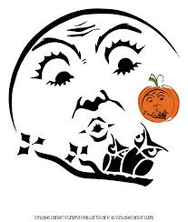beautiful moon and owls pumpkin stencil