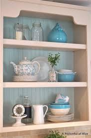 cottage style kitchen shelving