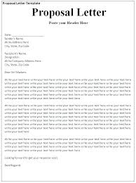 Free Business Proposal Template Templates Word Format Download