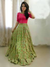 Designer Crop Top And Skirt Latest Designer New Style Crop Top Skirt Lehenga With