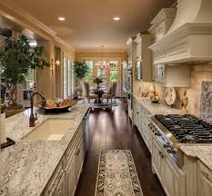 French Country Home. Light Kitchen CabinetsWood ...
