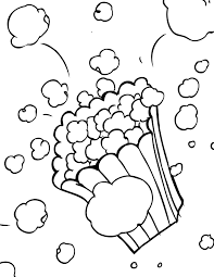 Small Picture Popcorn Coloring Page Handipoints
