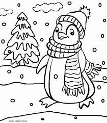Christmas Penguins Coloring Page Free Printable Pages