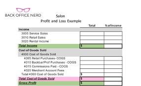 Salon Profit Loss Sheet Template Download Access