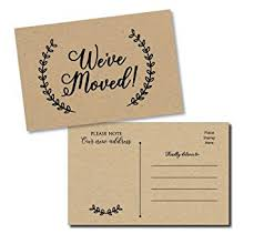 Announcement Postcards Amazon Com 50 Moving Announcement Postcards Fill In The Blank