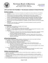 Pharmacy Technician Resume Pharmacy Technician Cover Letter Template Gallery Cover Letter 16