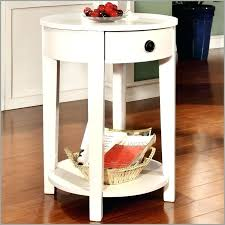 white side table with drawer large size of round white side table white side table with