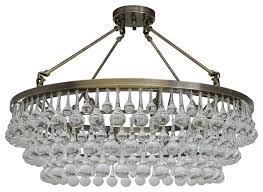 celeste 32 flush mount glass drop crystal chandelier antique brass