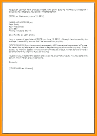 Excuse Duty Letter Rightarrow Template Database