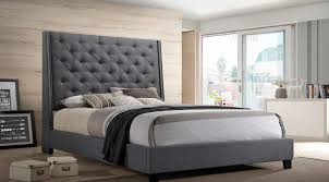 Chantilly Gray Upholstered Tufted Bed Mattress King Of Las Vegas