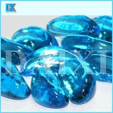 glass stones china colored decorative glass stones for vase glass stones fire pit