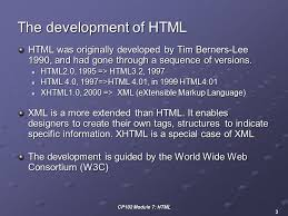 CP102 Module 7: HTML 1 Module 7: HTML 1.What is 1.What is HTML? 2. 2 ...