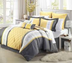 yellow king size comforter. Delighful Size 8 Piece Oversize Gray Yellow White Embroidery Comforter Set King Size On