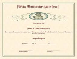 Sample Degree Certificates Of Universities Degree Certificate Samples Certificate Templates