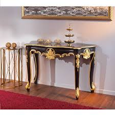 vintage console table. Royal Vintage Console Table Baroque Style In Black And Gold