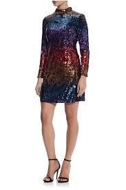 Aidan Mattox Sequin Bell Sleeve Dress
