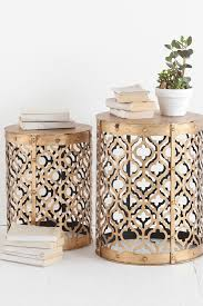gold side innovative side accent table with rudebekia side table set of 2 mercana on hautelook diy