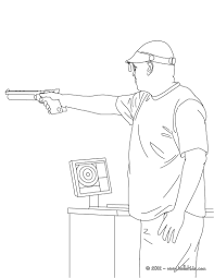 Shooting Coloring Page More Sports Coloring
