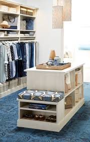 Make the mornings peaceful with designs from TCS Closets. More walk-in  closet dressing room island